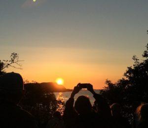 solnedgång över Kullaberg/Sunset in august Kullaberg